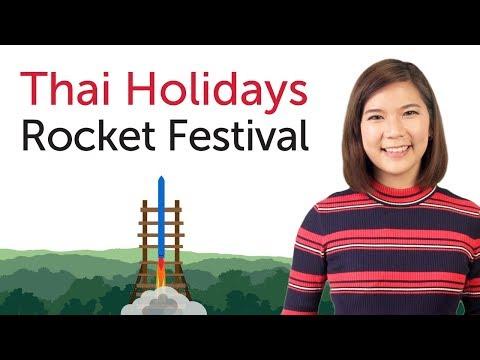Learn Thai Holidays - Rocket Festival