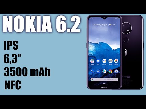 Обзор смартфона Nokia 6.2 . IPS, 3500 MAh, NFC