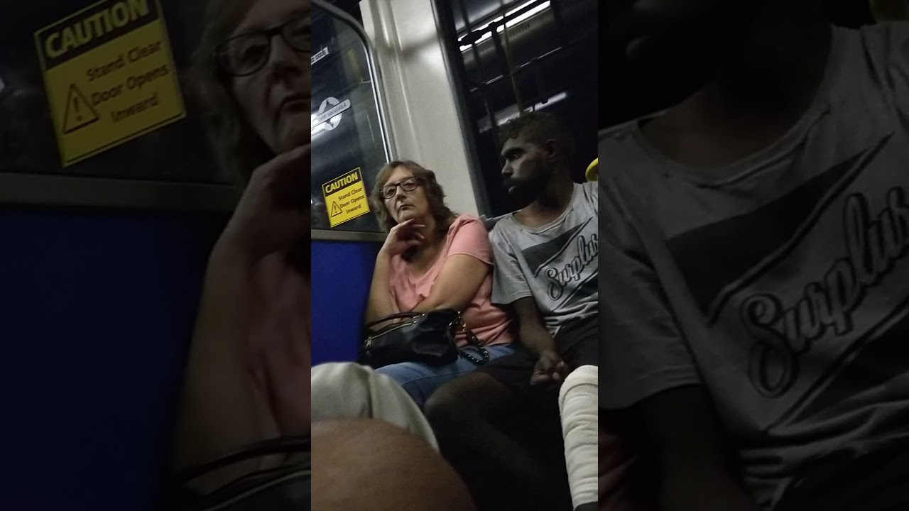 """I'm A Black..This Is My Land"" Aborigine Man tells whites and asians on bus"