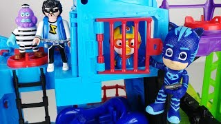 PJ Masks and police Station toys Pororo and SpongeBob car play - 토이몽