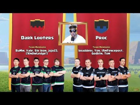 DARK LOOTERS Vs PROC *LIVE REACTION*  Clans World Championships July Qualifier Day 2