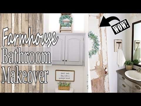DIY SMALL BATHROOM REMODEL ⭐ FARMHOUSE BATHROOM DECOR