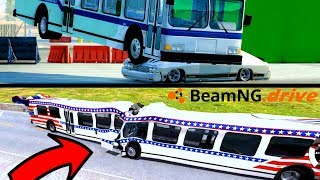 CRASH TEST AUTOBUS (Frontale 320 km/h) - BeamNG Drive
