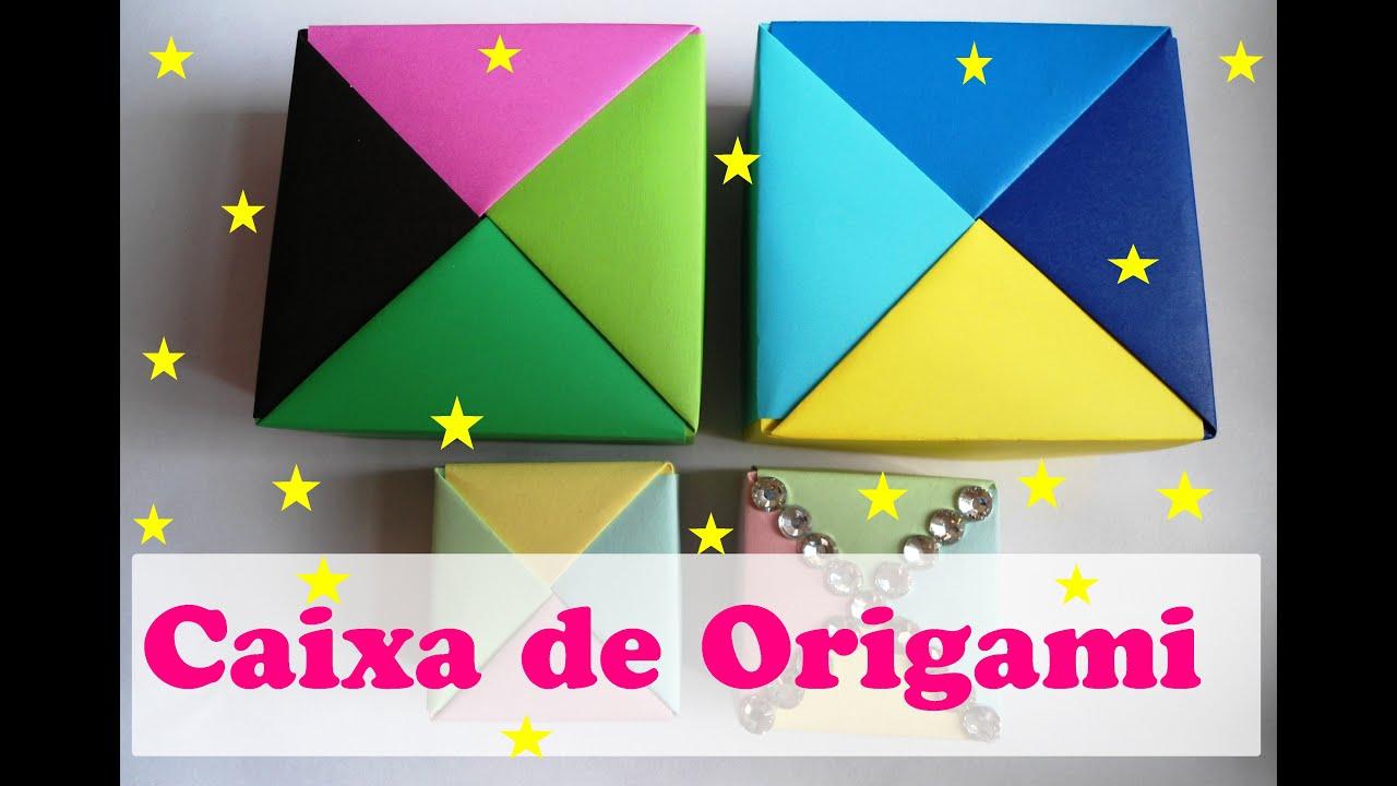 Artesanato Dos Estados Unidos ~ CAIXA DE ORIGAMI 4 CORES YouTube
