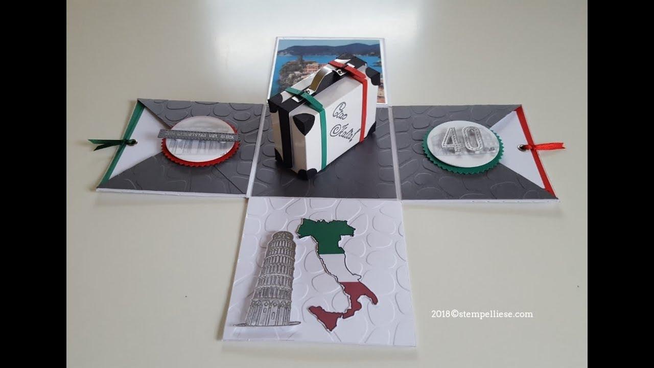 explosionsbox geldgeschenk f r eine italienreise youtube. Black Bedroom Furniture Sets. Home Design Ideas