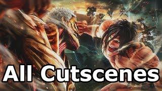 Attack on Titan 2 - All Cutscenes (Game Movie)
