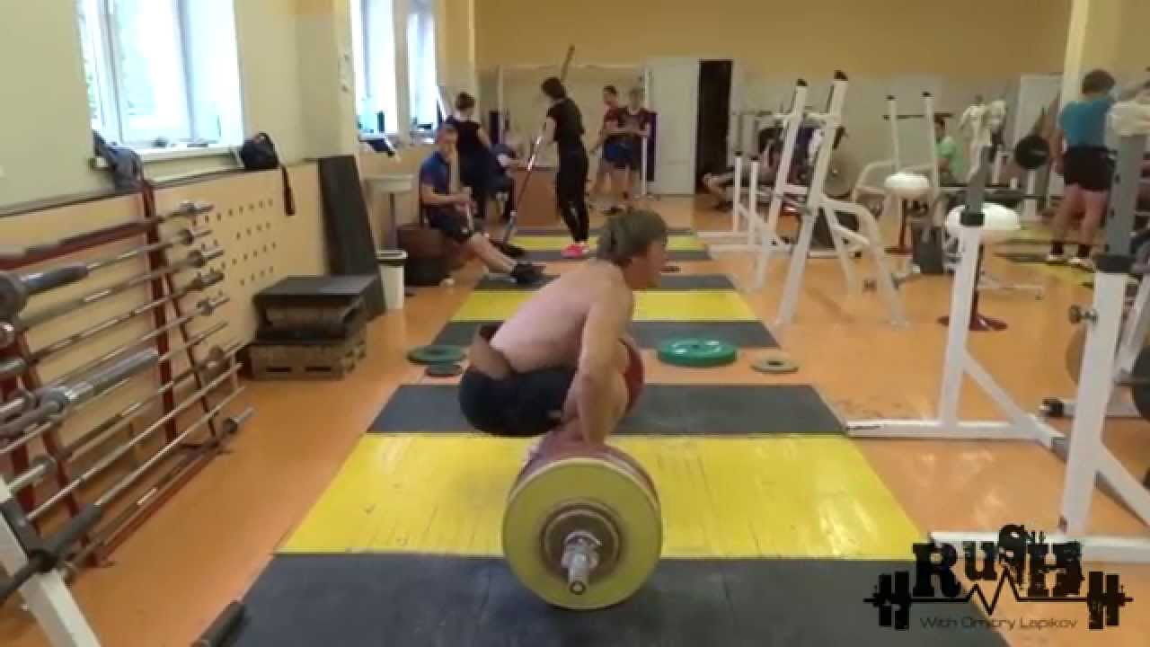 Dmitry Lapikov weightlifting training 12.09.15 end of the ...