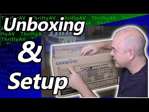 Onkyo TX-RZ820 THX AV Receiver Unboxing and Setup