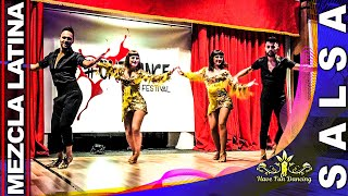 Salsa Dance Performance Show by Mezcla Latina at OneDance Latin Festival 2018