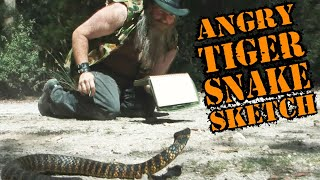 Very Angry Tiger Snake