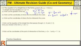 Coordinate Geometry (General equation of a line) Ultimate revision guide for Further maths GCSE