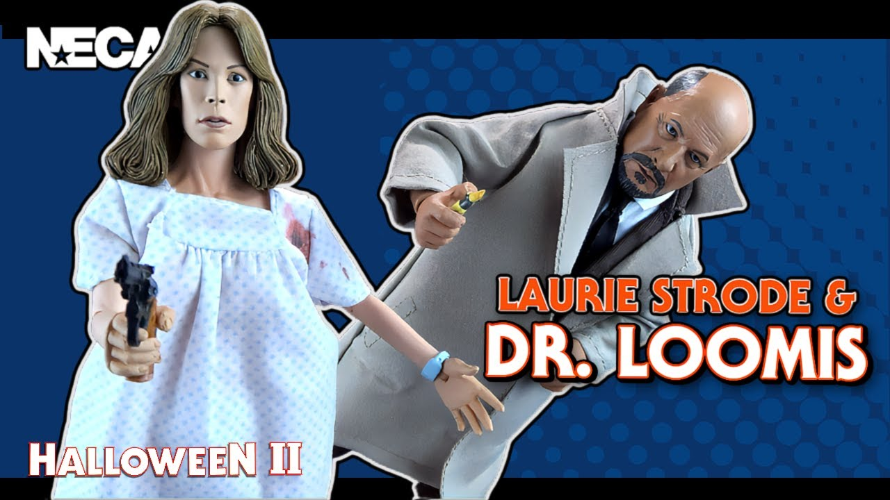 Download NECA Halloween 2 Retro Cloth Laurie Strode and Dr. Loomis Figure Set   Video Review