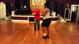 Naptown Stomp Intro to Lindy Lesson - John & Yara June 2015