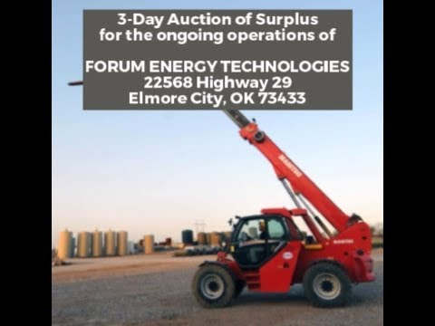 Auction for Forum Energy Technologies starting May 22 2018