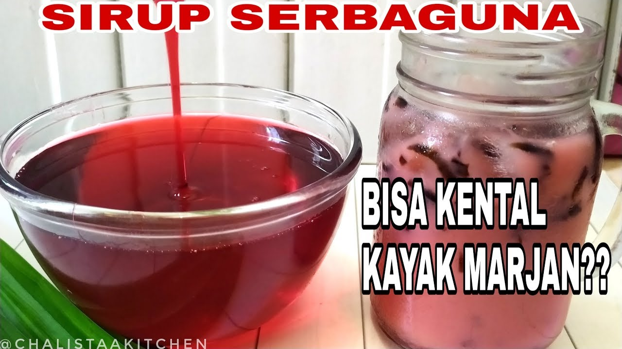 Sirup Homemade Cara Membuat Sirup Kental Ala Marjan Youtube