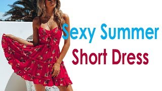 Sexy Women Summer Short Casual Dress Review