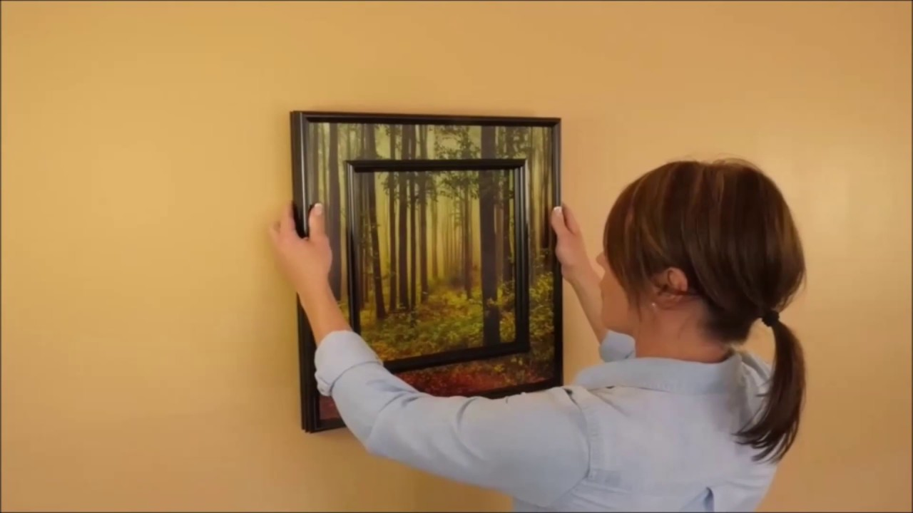 How To Hang A Picture Frame Level Straight On The Wall
