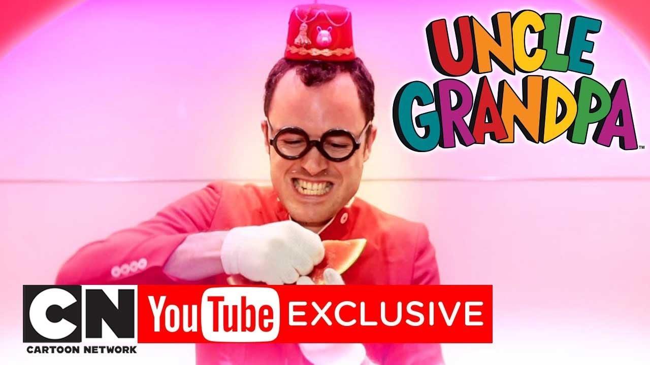 Sub show grandpa on web camera