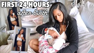 FIRST 24 HOURS WITH A NEWBORN | BRINGING BABY HOME