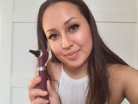 ASMR Ear exam and cleaning