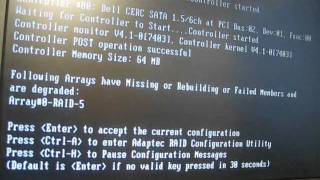 Windows Business Server 2003 Raid 5 - Array Failure Array Degraded Hard Disk fail