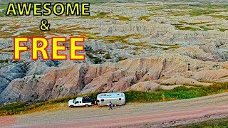 "😍 FREE ""DISPERSED"" RV CAMPING (BOONDOCKING) in South Dakota Badlands"
