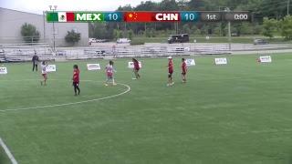 2018 WFDF World Jr. Ultimate Championships | WJUC Women: Mexico vs China | Aug. 22