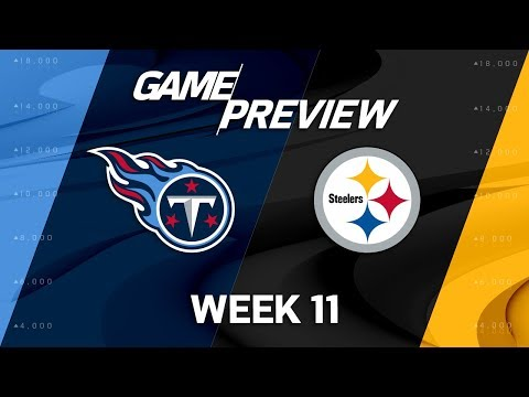 Tennessee Titans vs. Pittsburgh Steelers | NFL Week 11 Game Preview | NFL Playbook
