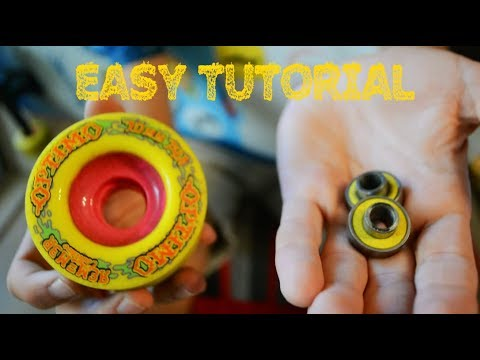 The QUICKEST/EASIEST Way To Get BEARINGS Out Of A SKATEBOARD WHEEL (No Tools Required)