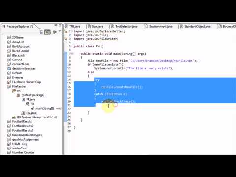 Learning Java: Part 16: Creating Files and Writing Into Them