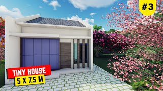 Beautiful Tiny House 2bedroom Design 5x7.5 Meter