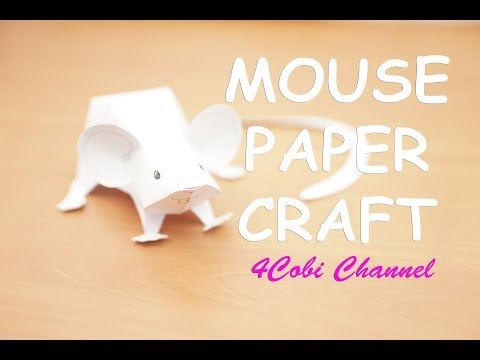 Mouse PaperCraft DIY - 4cobi channel - Paper Toy