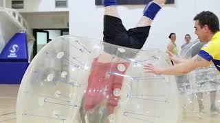 Bumper Ball Ninja Lublin - otwarta impreza bubble football / soccer 2015 mecz2