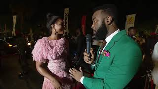 Soundcity MVP Osas Ighodaro Ajibade wins the Coca Cola world cup trophy VVIP treatment giveaway