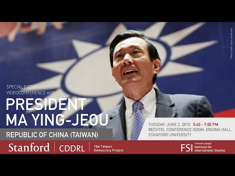 Videoconference with President Ma Ying-jeou of the Republic of China (Taiwan)