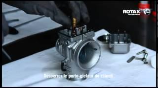 Entretien du carburateur et de la boite à air   moteur Rotax