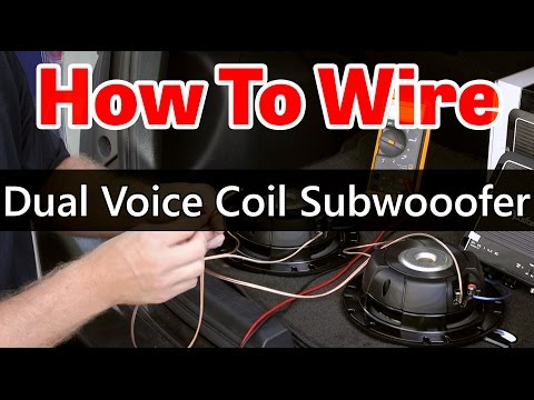 Dual Voice Coil Subwoofer wiring - Dual 2 ohm coils on