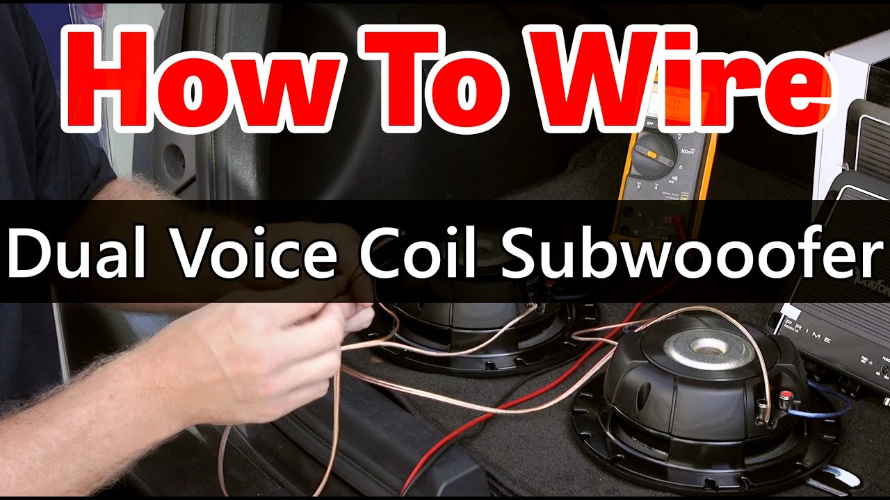 Dual Voice Coil Subwoofer wiring - Dual 2 ohm coils - YouTube on
