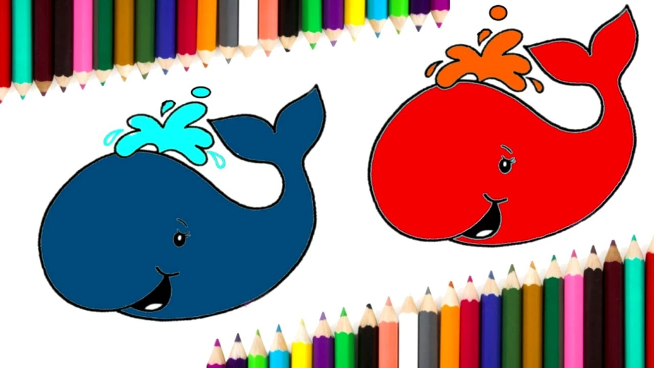 Fish Draw and Coloring Page | Learn Colors for Children - YouTube