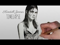 Speed Drawing Kendall Jenner by Emma Ravens