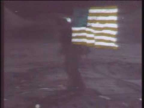 Apollo 15 flag waving