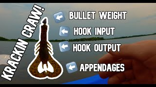 How to Rig a krackin Craw (Googan Baits) to Catch Bass Texas Rig