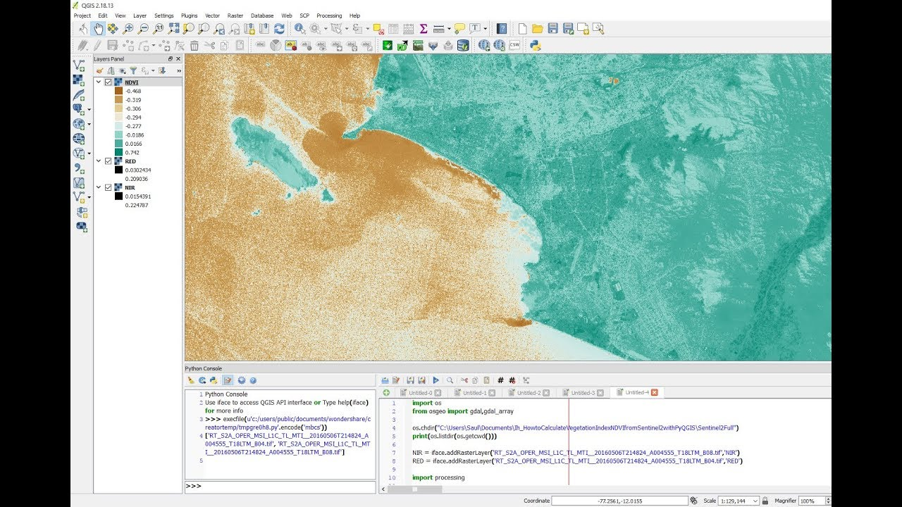 How to Calculate the Vegetation Index NDVI from Sentinel 2 Imagery