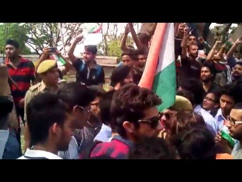Protest In Support Of Srinagar by Mietians At Miet Jammu.