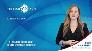 Workshop Commercial: The Arizona Residential Resale Purchase Contract