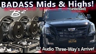 BADASS Mids & Highs Arrive! B2 Audio Ref 6.3 Three-Ways - Cadillac Escalade System Install Video 3