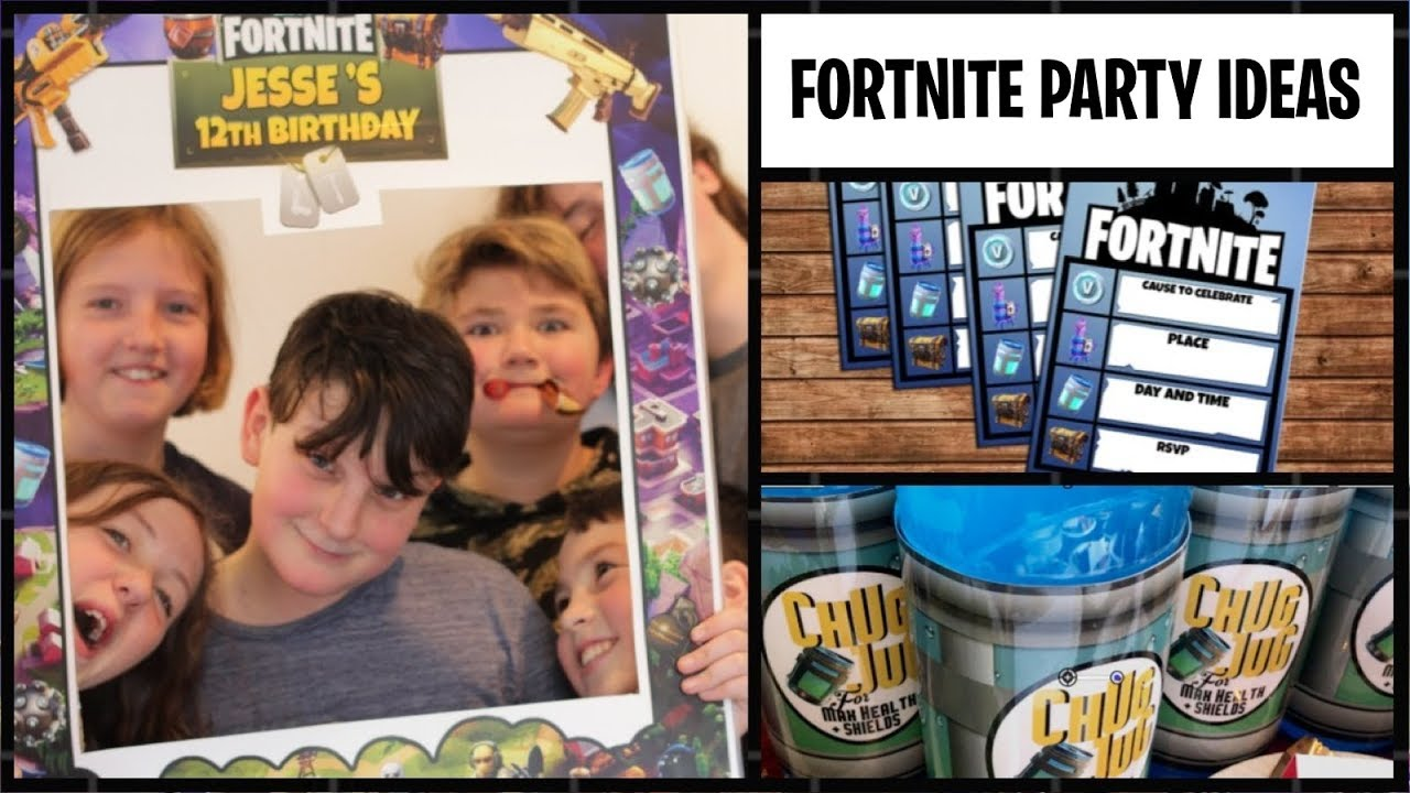 FORTNITE Themed Birthday Party Ideas