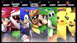 Super Smash Bros Ultimate Amiibo Fights Request #1448 4 Team Smash on Battlefield