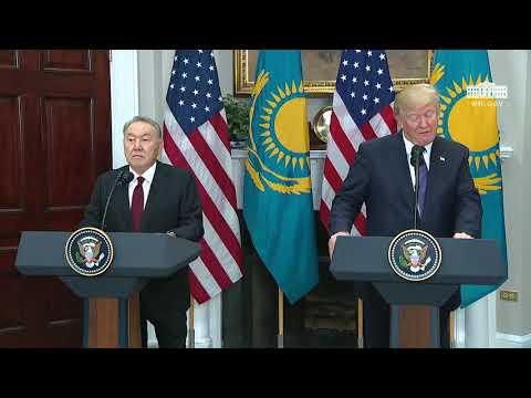 Press Conference: Donald Trump and Nursultan Nazarbayev Speak To Reporters - January 16, 2018