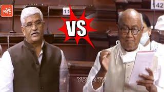 Gajendra Singh Shekhawat VS Digvijaya Singh In Rajya Sabha | Union Budget Session 2021 | YOYO TV